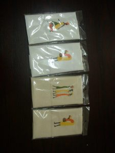 4 Guest Towels Ethnic Ladies